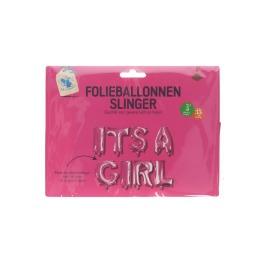 Folieballon It's a girl slinger