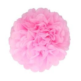 Papieren pompom 20cm roze