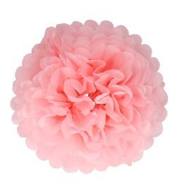 Papieren pompom 30cm roze