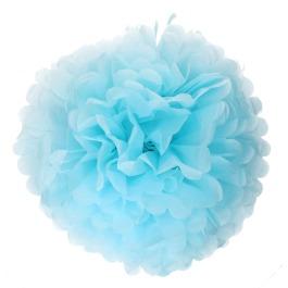 Papieren pompom 50cm xxl blauw