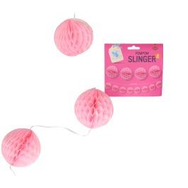 Pompom slinger roze