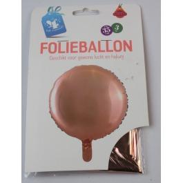 Folieballon rond rosegoud #555