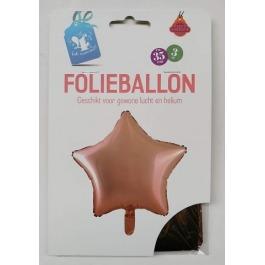 Folieballon ster rosegoud #562