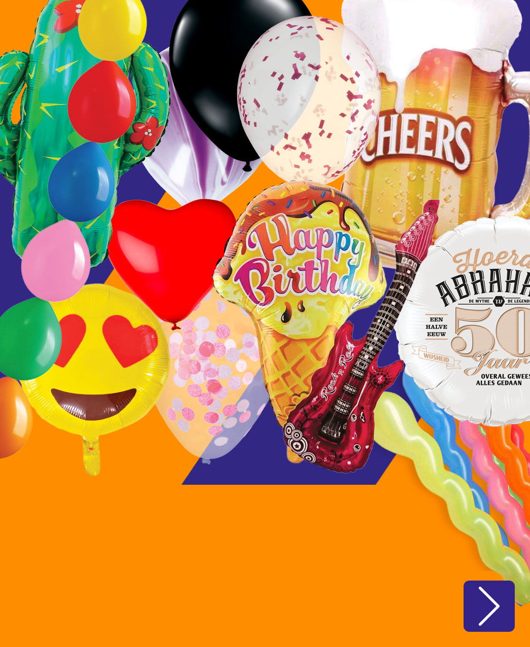heel veel verschillende ballonnen
