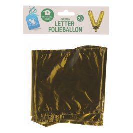 Ballon letter goud V