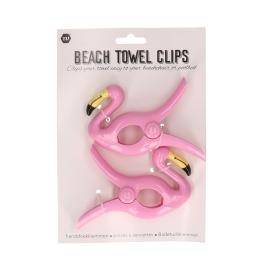 Handdoek-Klem Flamingo