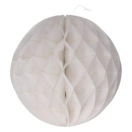 Honeycomb pompom 30cm rond wit