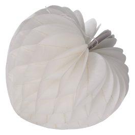 Honeycomb pompom druppel 20cm wit