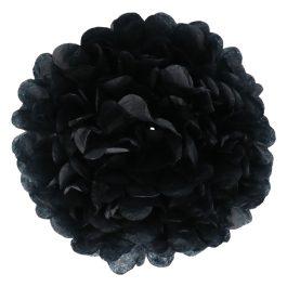 Papieren pompom 20cm zwart
