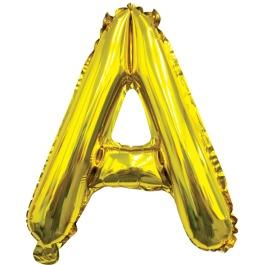 Ballon letter goud A