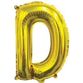 Ballon letter goud D