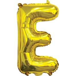Ballon letter goud E