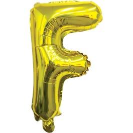 Ballon letter goud F