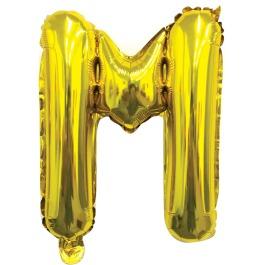 Ballon letter goud M