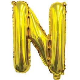 Ballon letter goud N