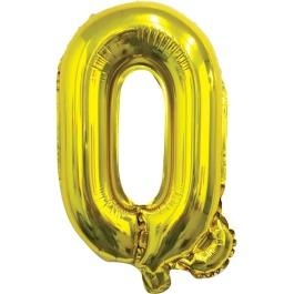 Ballon letter goud Q