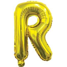 Ballon letter goud R