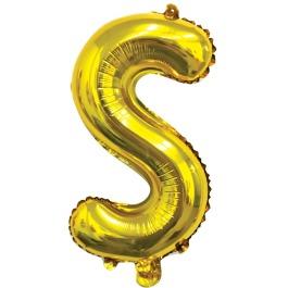 Ballon letter goud S