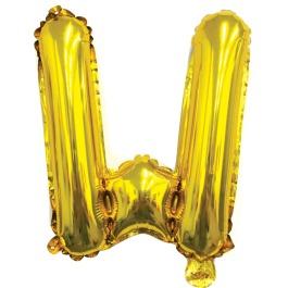 Ballon letter goud W