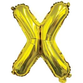Ballon letter goud X