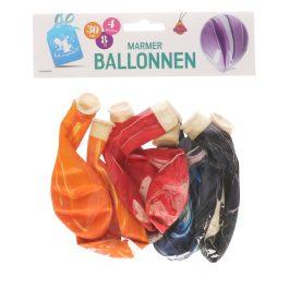 Ballonnen marmer 8 st