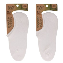 Bamboo sneaker sok off white