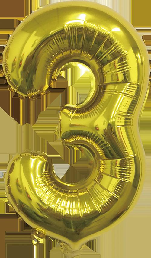 Folieballon goud xl 3