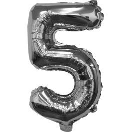 Folieballon zilver xl 5