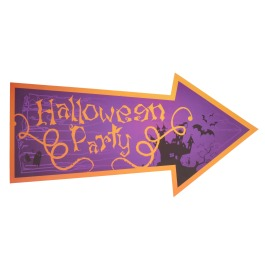 "Halloween Wanddeco Pijl ""Halloween Party"""