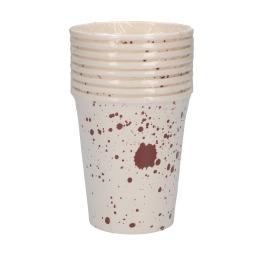 Halloween bekertjes met bloedspatten