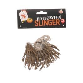 """Halloween slinger handjes 12 stuks """"klein"""""""
