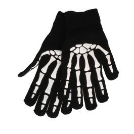 Handschoen met print skelet