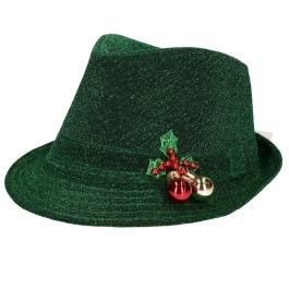 Hoed Glitter Kerst Groen