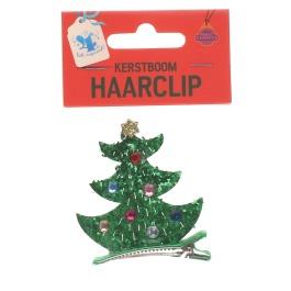Kerstboom haarclip