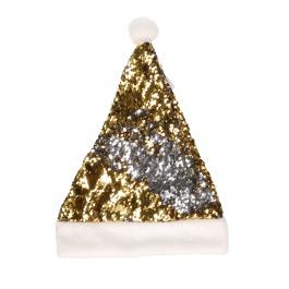 Kerstmuts Sequin Goud Zilver