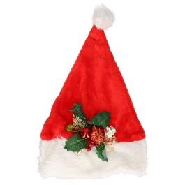 Kerstmuts de luxe met aplicatie