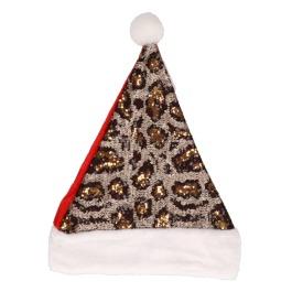 Kerstmuts pailletten panter
