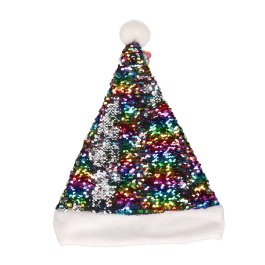 Kerstmuts pailletten rainbow
