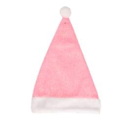 Kerstmuts roze glitter
