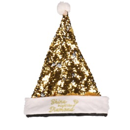 "Kerstmuts zilver ""shine bright…"""