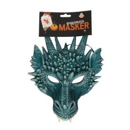 Masker draak grijs blauw