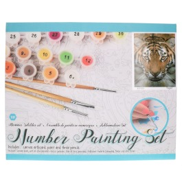 Number painting set Tiger