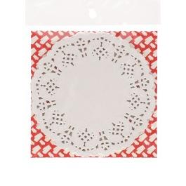 Onderzetter papier wit 40 stuks 14 cm