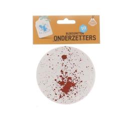 Onderzetters bloedspatten 10 stuks