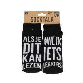 Statement sokken 36-41 wil ik iets lekkers