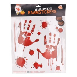 Sticker Bloederige Handen