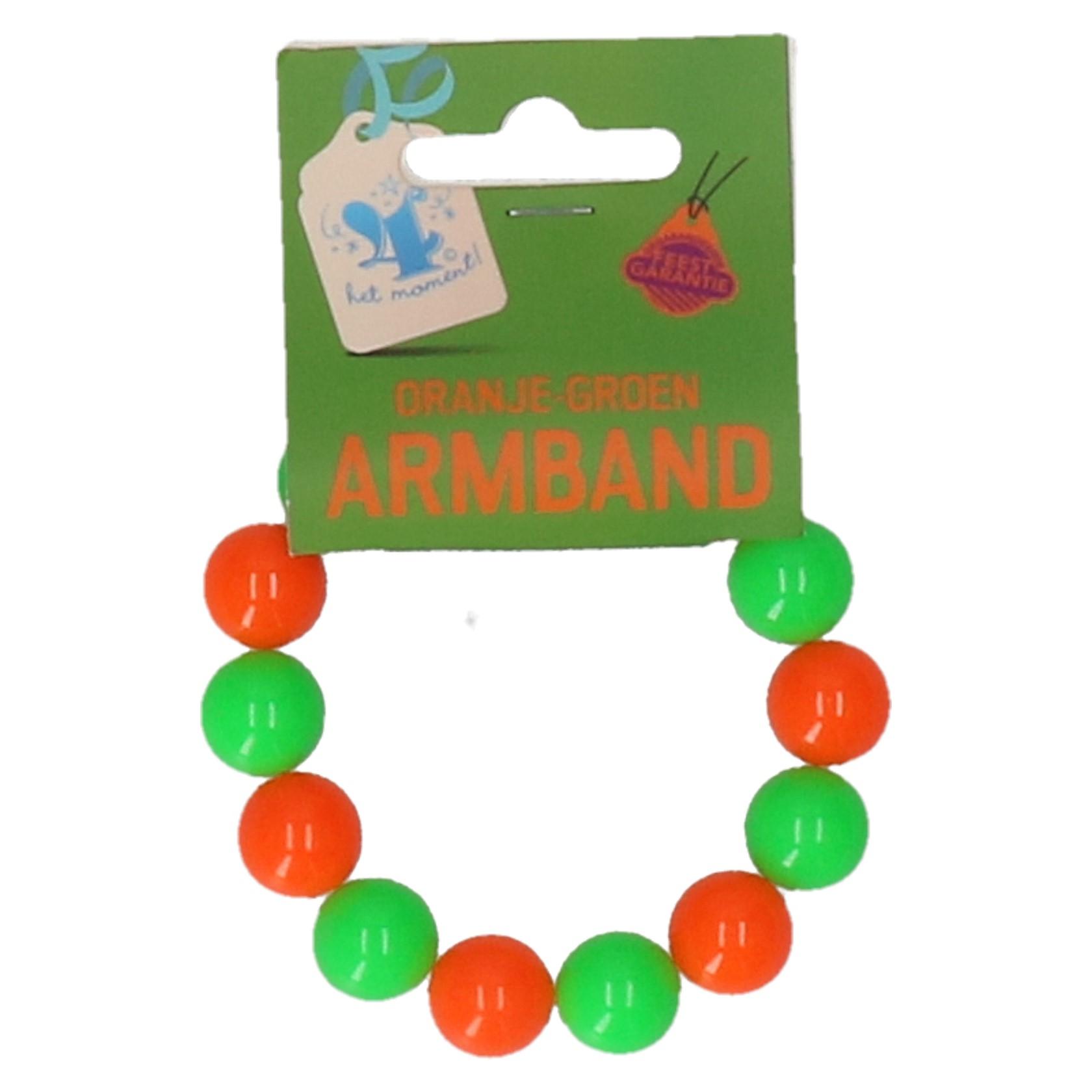Armband groen/oranje