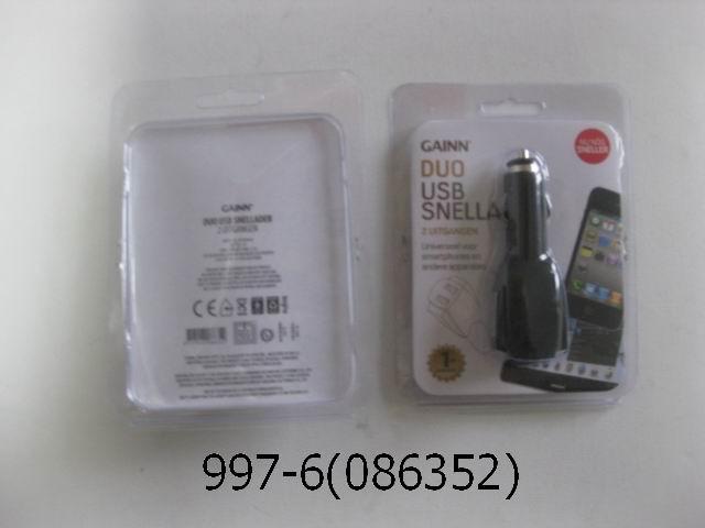 Auto usb 2x plug 2A EXTRA SNEL