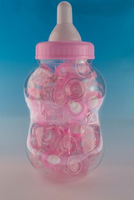 Babyflesmega roze inh 30 stuks