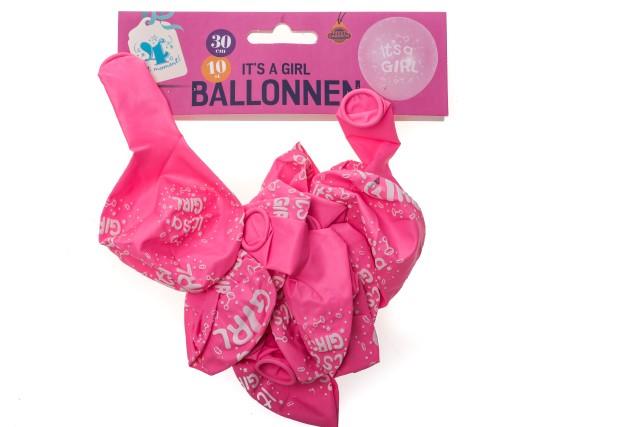 Ballonnen It's a girl 10 stuks